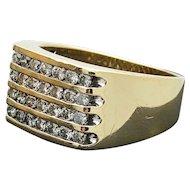 $3,425.00 Gentlemans 10k Diamond Ring 1.04TCW