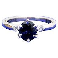 $4150 TACORI 18k Diamond and Sapphire Engagement Ring w/appraisal