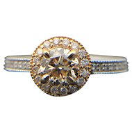 14k Gold VS-2 GIA Diamond Engagement Ring 0.92TCW $5200 Retail