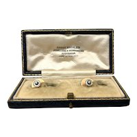 Antique 9ct and Platinum MOP Pearl Shirt Stud Set