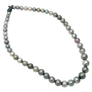 Leather Strung Set of Tahitian Pearls