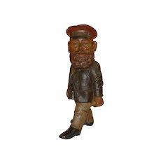 Dwarf gnome 1st express * railway luggage man * Otto Kind at 1900