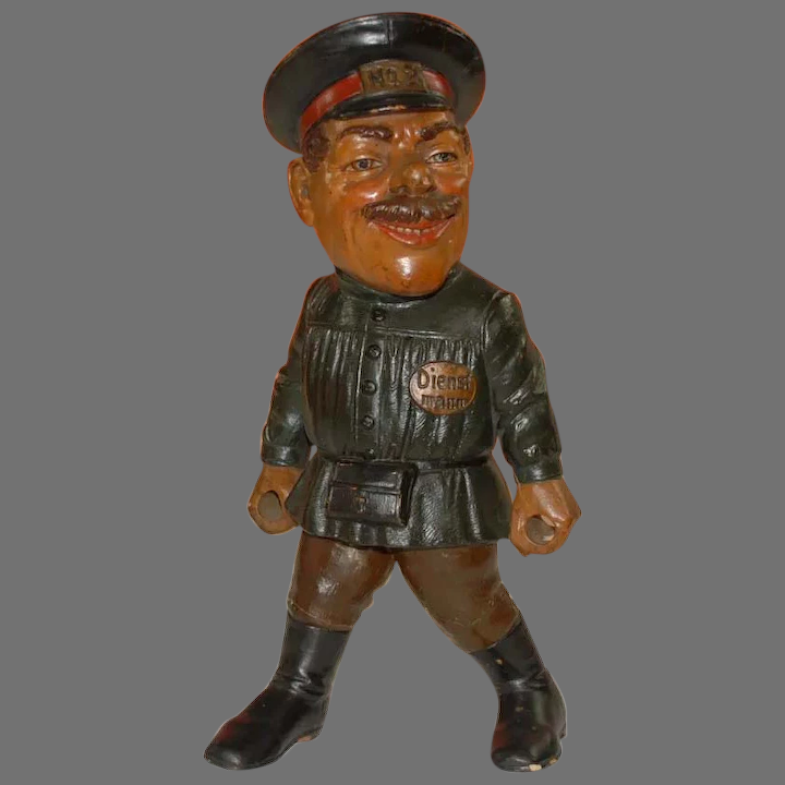 Dwarf gnome service man no. 2 in uniform * H 13.4 inch * Otto Kind at :  antiktoystore | Ruby Lane