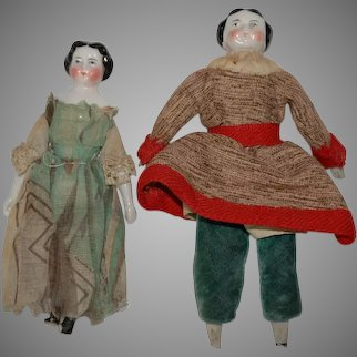 2 antique dollhouses Dolls to prepare * Germany at 1860/1880