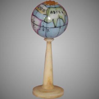 antique dollhouse GLOBE with porcelain globe * German c. 1860 * no. 2