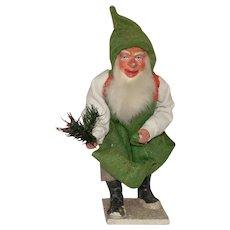 antique papermaché figurine * Dwarf - Santa helper * Germany Erzgebirge at 1900/1920
