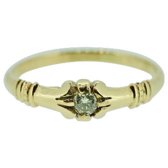1890's Ring, I put in a 13 point diamond