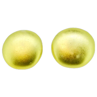 Erwin Pearl gold tone butten earrings