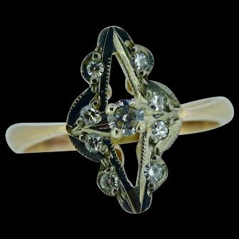 Victorian repro diamond ring