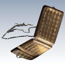 Antique EAM Match Safe Chatelaine Vesta Silver Edwardian Nickel Silver Case