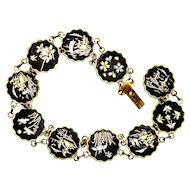 Japanese Komai Damascene Bracelet Inlaid Gold & Silver