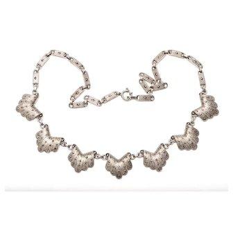 Theodor Fahrner Necklace Sterling Necklace Art Deco Necklace Marcasite Necklace Signed TF
