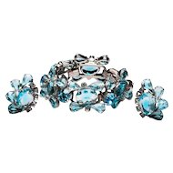 Juliana DeLizza and Elster D&E Bracelet and Earrings Juliana Bracelet Blue Juliana Set Book Piece