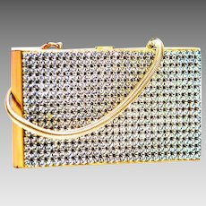 Wiesner Trickettes Vintage Compact Carry-all Rhinestone Vanity Purse Makeup