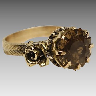 18k Gold and Citrine Ring