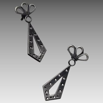 Oxidized Silver Earrings