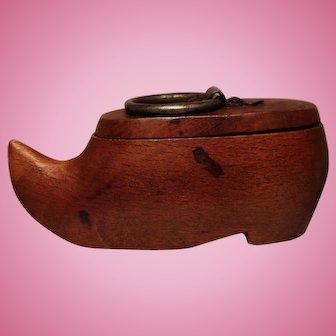 Small Wooden Snuff Box