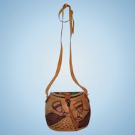 Leather Basket Purse from Africa