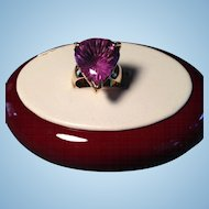 14K Gold Ring with 18K Amesthyst