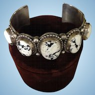 Sterling Silver and Buffalo Turquoise Bracelet by Emer Thompson
