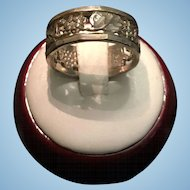 Sterling Ring Marked 925 NF