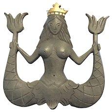 Mermaid Family Crest Doorknocker