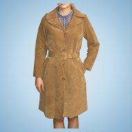 Vintage Suede Trench Coat