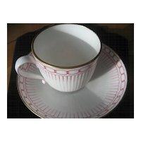 Vintage English Bone China Cup and Saucer Circa 1884