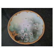 Antique Hand Painted Pickard Daisy Plate by Howard Reury