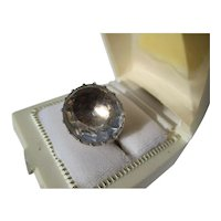 Shop Special! Antique 22 Carat Natural Quartz Crystal Georgian Ring