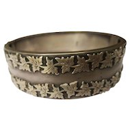 Shop Special! Antique English Sterling Silver Hinged Bangle ~ Victorian 1885