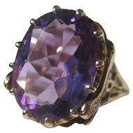 Vintage Egyptian Revival 7 Carat Amethyst Ring