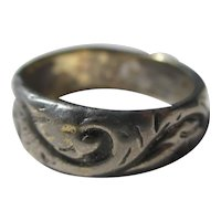 Vintage Silver Victorian Wedding Band ~ Ring