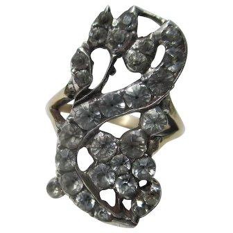 Rare Antique Giardinetti Paste Ring ~ Georgian