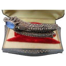Antique Straits Chinese Silver Dragon Bracelet ~ Bangle