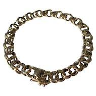 Shop Special ! Vintage Tiffany & Co 14k Gold Double Link Charm Bracelet