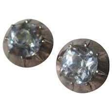 Shop Special! Antique Cushion Cut French Paste Cuff links c 1840