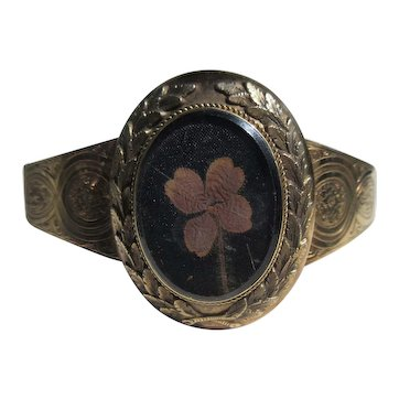 Antique Gold Luck Bangle / Bracelet ~ Victorian