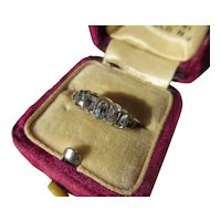 Antique Diamond and 18K Gold Georgian Band / Ring