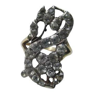 Shop Special ! Rare Antique Giardinetti Paste Ring ~ Georgian
