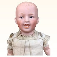 "Bisque character boy doll, Gebruder Heubach ""Laughing Boy"""