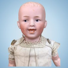"""Bisque character boy doll, Gebruder Heubach """"Laughing Boy"""""""