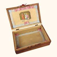 Vintage wood dovetailed presentation box