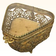 Vintage ormolu filigree box
