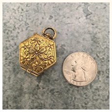 Vintage Miniature metal doll purse