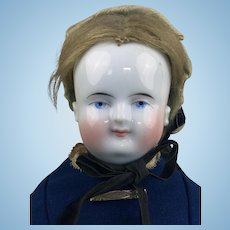 China head Beidermeier doll with original wig