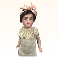 French all bisque miniature flapper doll by rare maker