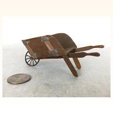 Miniature dollhouse scale wheelbarrow for the garden or greenhouse