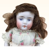 All bisque miniature Kestner redhead doll