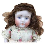 All bisque miniature Kestner redhead doll
